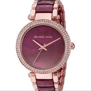 Michael Kors Parker Plum & Rose Gold Watch